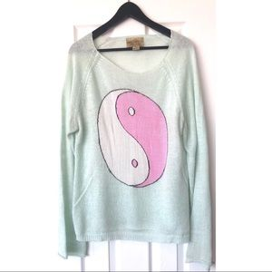 Wildfox- Ying Yang Sweater